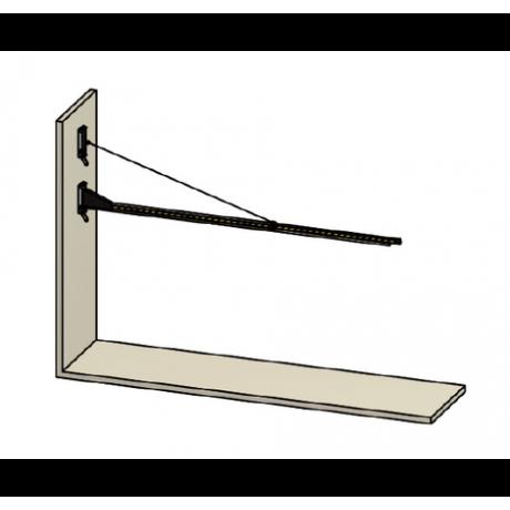 Brazo basculante de pared para cortinas y láminas 70700255