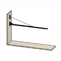 Brazo basculante para cortinas para fijar en pared 70700250