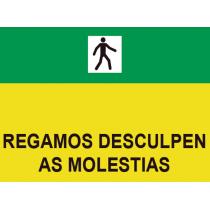 Señales Viales PVC Gallego Disculpen Molestias