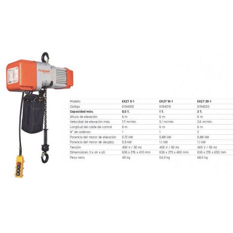 Polipasto eléctrico de cadena EKZT 20-1