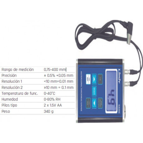 Medidor de espesor Limit 5600