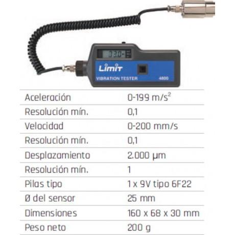 Medidor de vibración Limit 4800