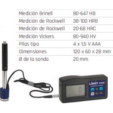 Comprobadores de dureza de materiales ligeros Limit 4300
