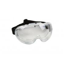 Gafas Seguridad Visión Panorámica, transparentes con ajuste elástico.