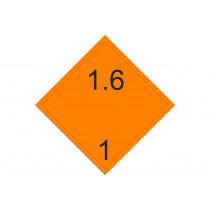 Señalización Adhesivos MATERIAS PELIGROSAS - Peligro de Clase 1.6