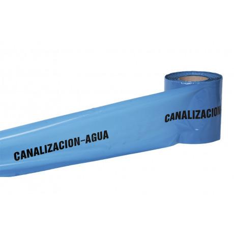 """Cinta Balizamiento """"CANALIZACIÓN AGUA"""""""