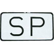 """Placa """"SP"""" V-9 Servicio Público"""