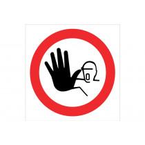 Señal prohibido solo pictograma - Alto no pasar.
