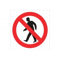 Señal prohibido solo pictograma - Prohibido pasar