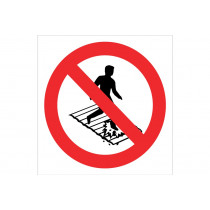 Señal prohibido solo pictograma - Prohibido pisar