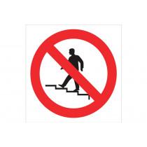 Señal prohibido solo pictograma - Prohibido subir las escaleras