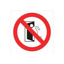 Señal prohibido solo pictograma - Prohibido salir