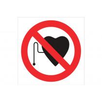 Señal prohibido solo pictograma - Prohibido marcapasos