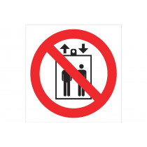 Señal prohibido solo pictograma - Prohibido personas montacargas