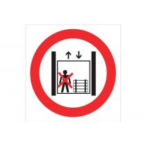Señal prohibido solo pictograma - Prohibido personas y cargas