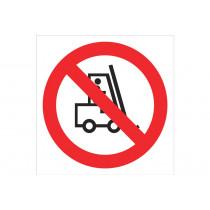 Señal prohibido solo pictograma - Prohibido carretillas