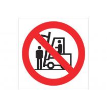 Señal prohibido solo pictograma - Prohibido situarse debajo carga