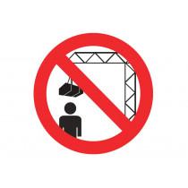 Señal prohibido solo pictograma - Prohibido situarse debajo carga grua