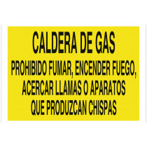 Señal advertencia solo texto - Caldera de gas