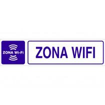 Señal informativa pictorama y texto - Zona Wifi