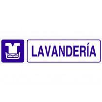 Señal informativa pictorama y texto - Lavandería