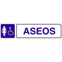 Señal informativa pictorama y texto - Aseos señora discapacitada