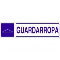 Señal informativa pictorama y texto - Guardarropa
