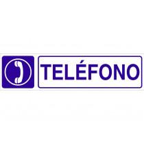 Señal informativa pictorama y texto - Teléfono