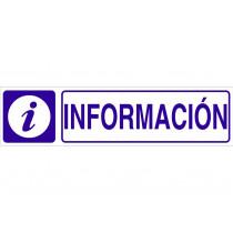 Señal informativa pictorama y texto - Información