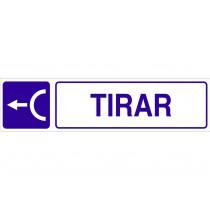 Señal informativa pictorama y texto - Tirar