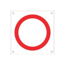 """Señal para obra OB05 """"Prohibido circular"""""""