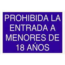 """AC14 Señal """"prohibido 18 años"""""""