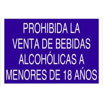 """AC15 Señal """"Prohibida venta bebidas alcohólicas a menores de 18 años"""""""