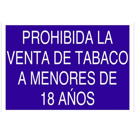 """AC16 Señal """"Prohibida la venta de tabaco a menores de 18 años"""""""
