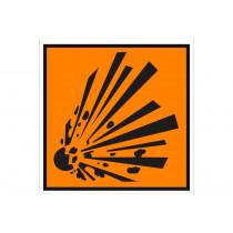 Señalización Adhesivos Residuos Tóxicos - Material Explosivo