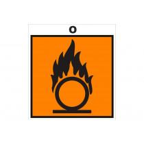 Señalización Adhesivos Residuos Tóxicos - Peligro Material Combustible