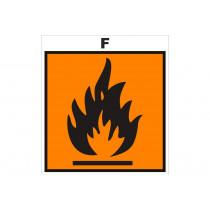 Señalización Adhesivos Residuos Tóxicos - Peligro de incendio