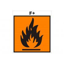 Señalización Adhesivos Residuos Tóxicos - Peligro gas inflamable