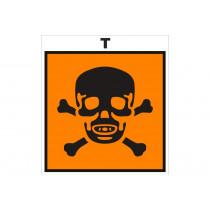 Señalización Adhesivos Residuos Tóxicos - Peligro producto tóxico
