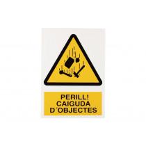 Señal en catalán: Senyals d'advertència - Perill Caiguda Objectes