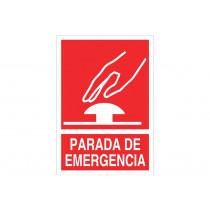 Señal de socorro pictorama y texto - Parada de emergencia