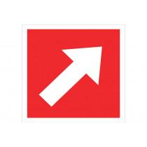 Señal de socorro solo pictorama - Dirección obligatoria oblicua