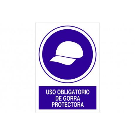 Señal obligación pictorama y texto - Obligatorio Gorra protectora