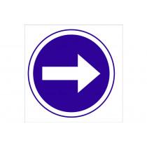 Señal obligación solo pictorama - Obligatorio derecha