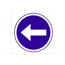 Señal obligación solo pictorama - Obligatorio izquierda