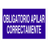Señal obligación solo texto - Obligatorio apilar correctamente