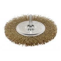 Cepillo Alambre Circular Ondulado Acero Latonado