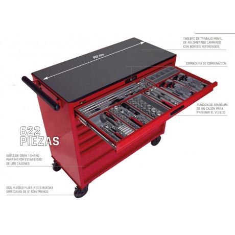 "Carro herramientas TCMM622N 37"" con 622 herramientas"