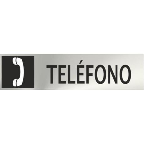 Informativa Teléfono Acero Inoxidable Adhesivo de 0'8mm 50 x 200 mm