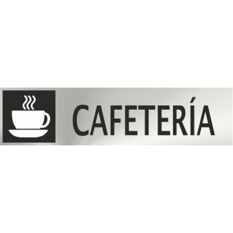 Informativa Cafetería Acero Inoxidable Adhesivo de 0'8mm 50 x 200 mm
